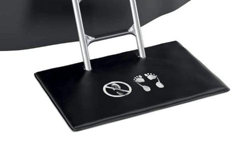 Trampoline shoe mat